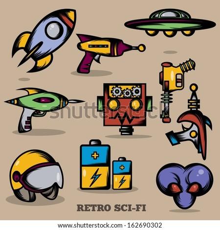Retro Sci-fi - stock vector