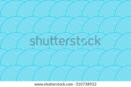 Retro seamless background consisting of concentric circles in vector - stock vector