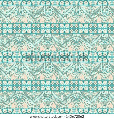 retro seamless natural striped pattern. vector illustration  - stock vector