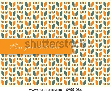 Retro Seamless Pattern Vector Illustration/Design - stock vector