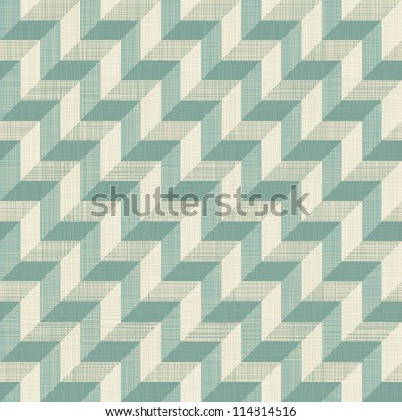 retro seamless zigzag pattern in blue and grey - stock vector