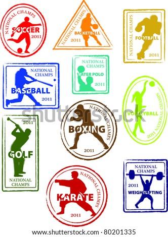 retro set fun americana sports passport stock vector 80201335 rh shutterstock com passport stamp vector image free singapore passport stamp vector