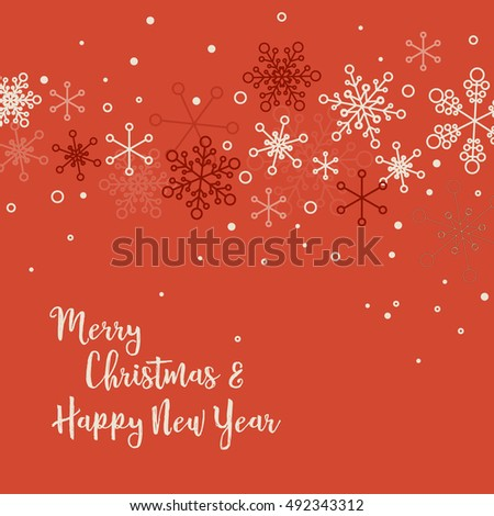 Retro simple christmas card white snowflakes stock vector 492343312 retro simple christmas card with white snowflakes on red background m4hsunfo