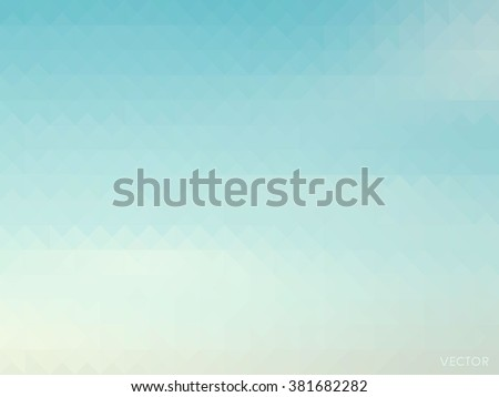 retro sky with soft cloud background, low poly style vector - stock vector