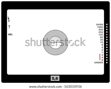 retro SLR viewfinder, with free space for your pics, vector - stock vector