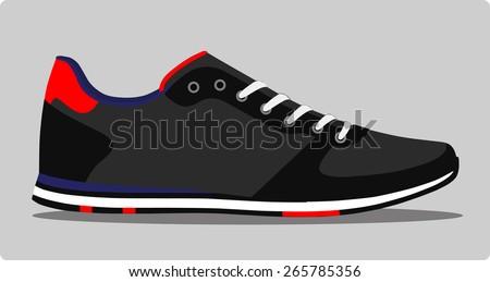 Retro sneakers. vector  - stock vector