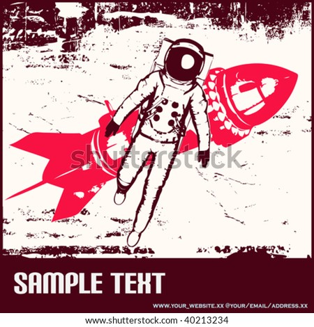 Retro Space Travel - stock vector