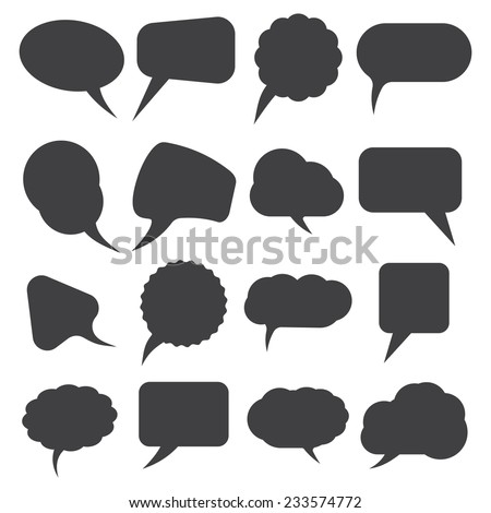 Retro speak bubbles - stock vector