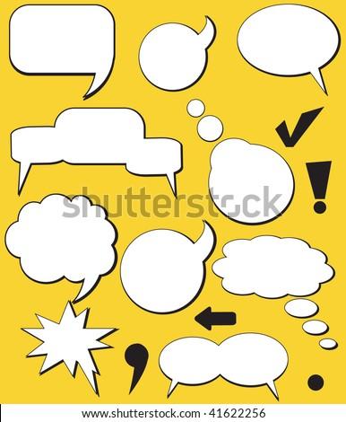 Retro Speech balloons. Vector - stock vector