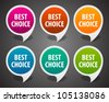 Retro speech bubbles set and best choice message vector illustration Eps 10. - stock vector
