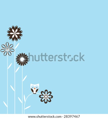 Retro spring background with copy-space - stock vector