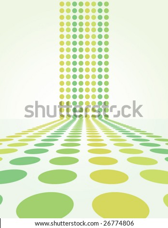 Retro Spring Dot Background - vector illustration
