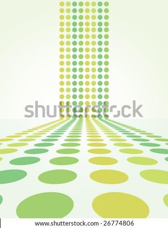Retro Spring Dot Background - vector illustration - stock vector