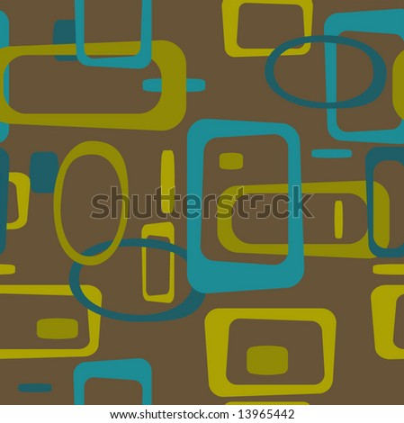 Retro Square Tileable seamless background - stock vector