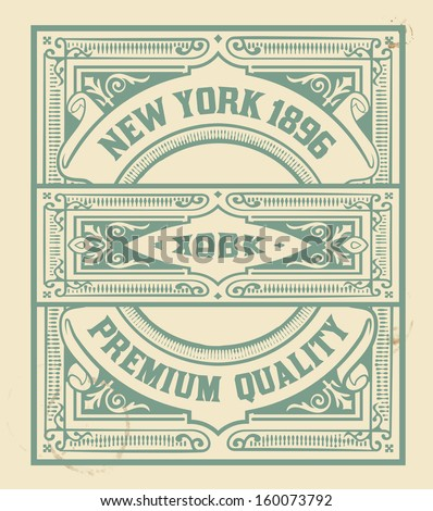 Retro stamp design. Organized by layers. - stock vector