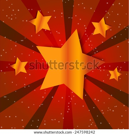 Retro Star Vintage card. Vector illustration isolated - stock vector