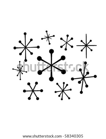 Retro Stars 4 - Retro Clip Art - stock vector
