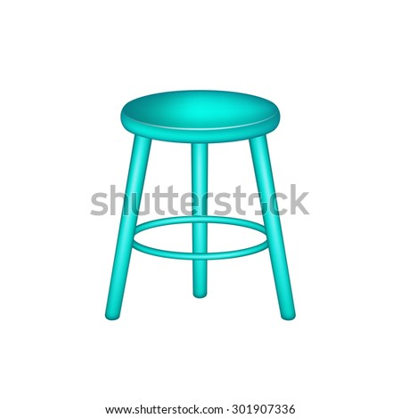 Retro stool in turquoise design
