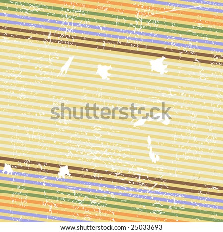 Retro striped grunge background (vector) - stock vector