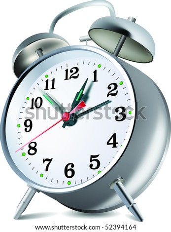 Retro style alarm clock. Vector - stock vector