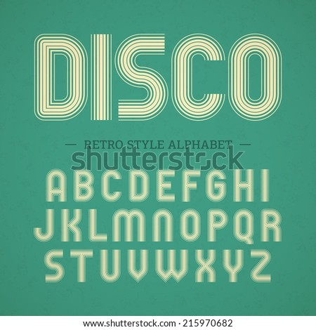 Retro style alphabet. Vector. - stock vector