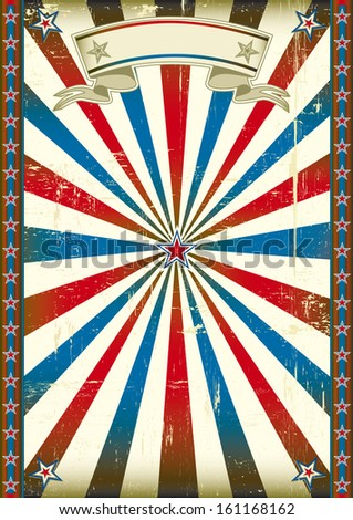 Retro style background. A vintage poster with sunbeams for you. - stock vector
