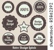 Retro Style Badges - stock vector