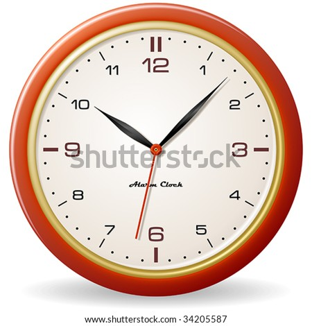 Retro style clock - stock vector