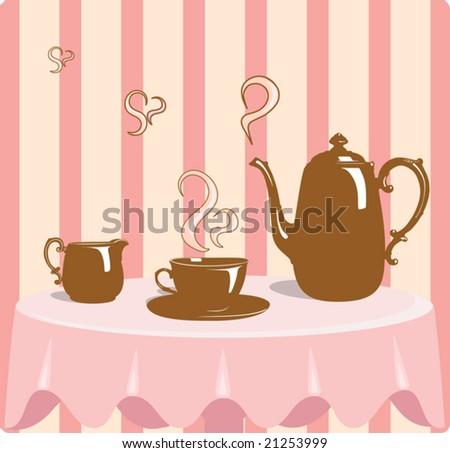 Retro style coffee vector illustration - stock vector