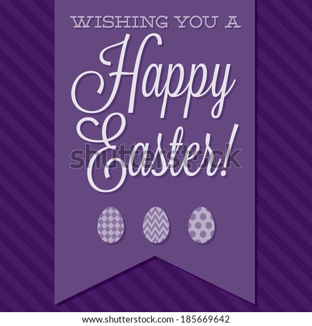 Retro style 'Happy Easter' card in vector format. - stock vector