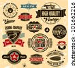 Retro style labels and badges vintage collection. Limited edition. Premium quality. - stock