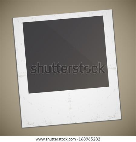 Retro style polaroid photo illustration design - stock vector