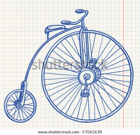 Retro-styled bicycle, vector illustration - stock vector