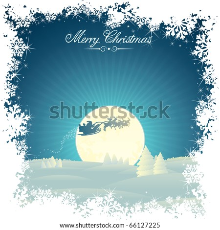 Retro Styled Christmas card with copy space - stock vector