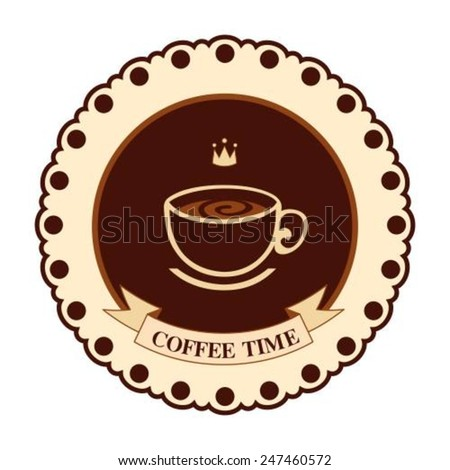 Retro styled coffee label. Vector illustration. - stock vector