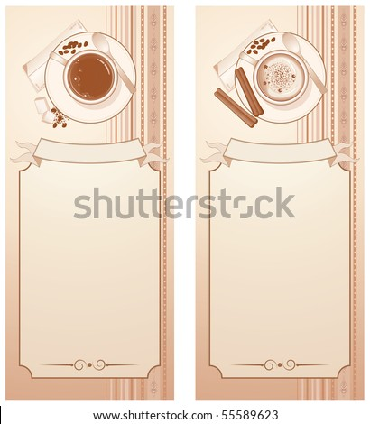 Retro styled Coffee Menu template  - vector series - stock vector