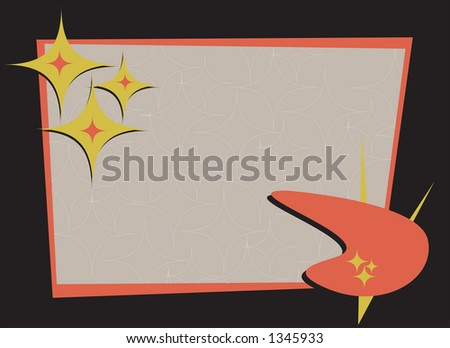 Retro-styled frame. Perfect copy area. Fully editable vector illustration. - stock vector