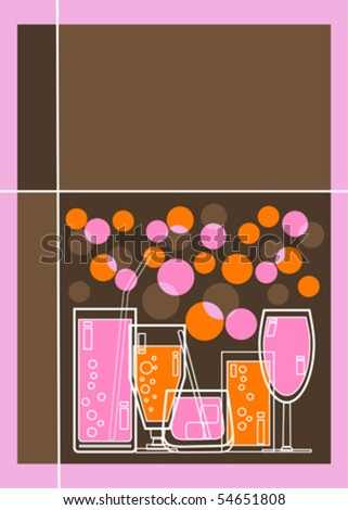 Retro styled Menu or Party invitation with space for text - stock vector