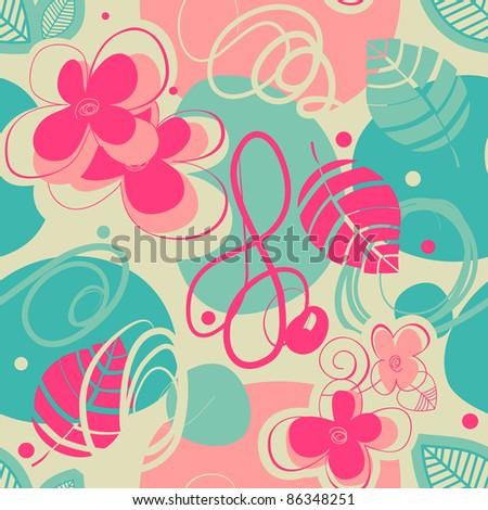 Retro stylish seamless pattern - stock vector