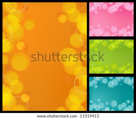 Retro-stylized bubbles background in 4 colors - stock vector