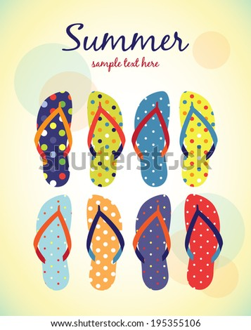 retro summer poster - stock vector
