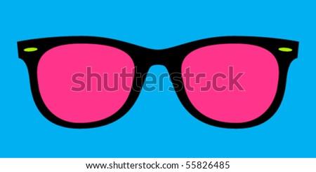 Retro Sunglasses - stock vector