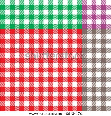 Retro tablecloth texture - stock vector