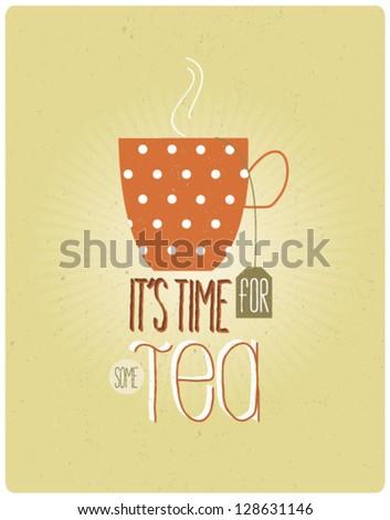 Retro Tea Vintage - stock vector