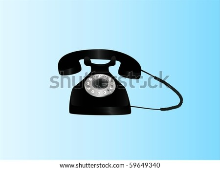 retro telephone ( background on separate layer ) - stock vector