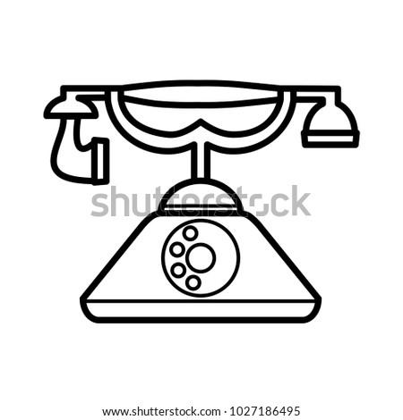 Retro Telephone Phone Vector Vintage Template Stock Vector ...
