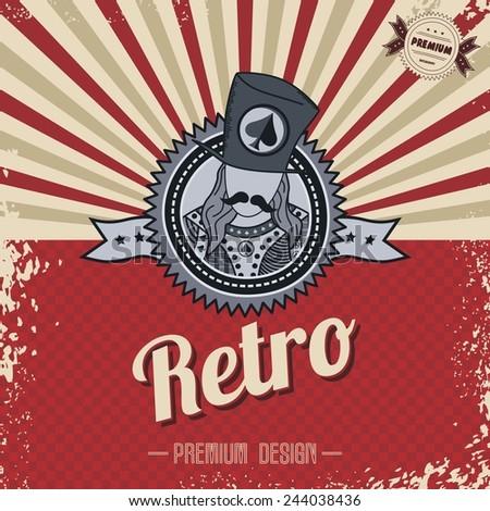 retro template - stock vector