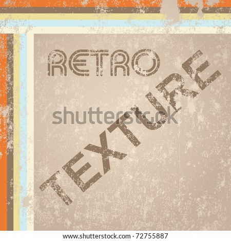 Retro texture vector - stock vector