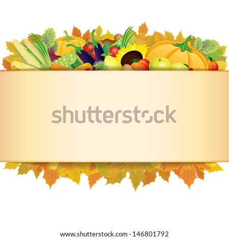 Retro Thanksgiving Background. Vector EPS 10 - stock vector