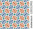 Retro Tiles Pattern Inspired by Islamic Geometric Art - stock photo